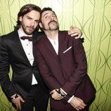 Marc Clotet y Hugo Silva en la 'Private Party' de Paco León tras los Goya 2017