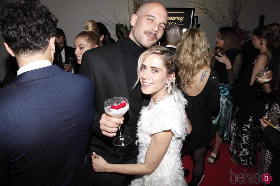 María León y su novio Juan Molina en la 'Private Party' de Paco León tras los Goya 2017
