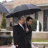 Roberto García en el funeral de Erika Ortiz