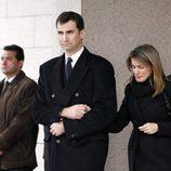 Los Reyes Felipe y Letizia en el funeral de Erika Ortiz