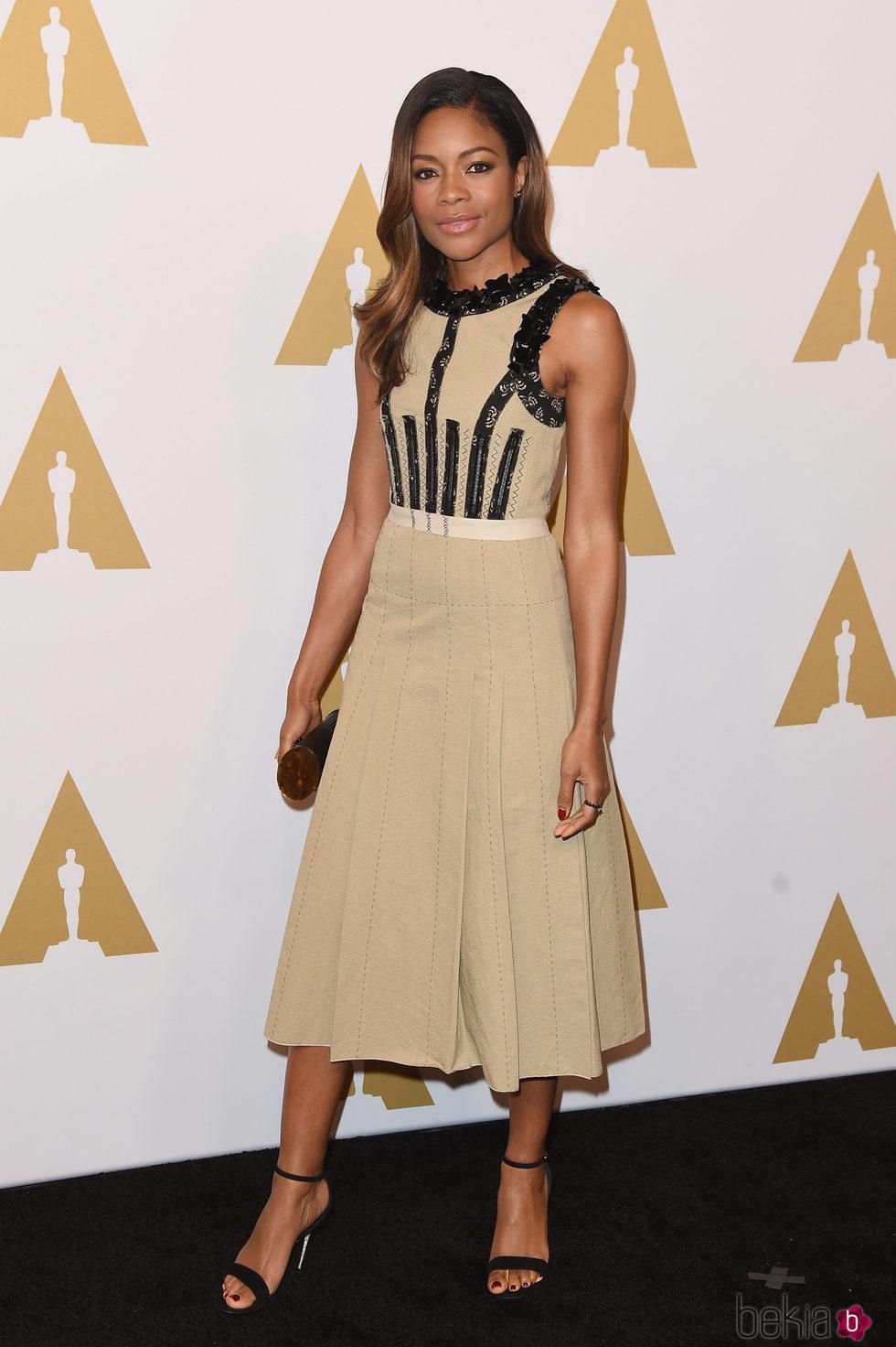 Naomie Harris en el almuerzo de los nominados a los Oscar 2017