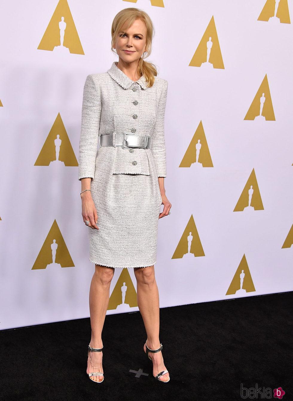 Nicole Kidman en el almuerzo de los nominados a los Oscar 2017