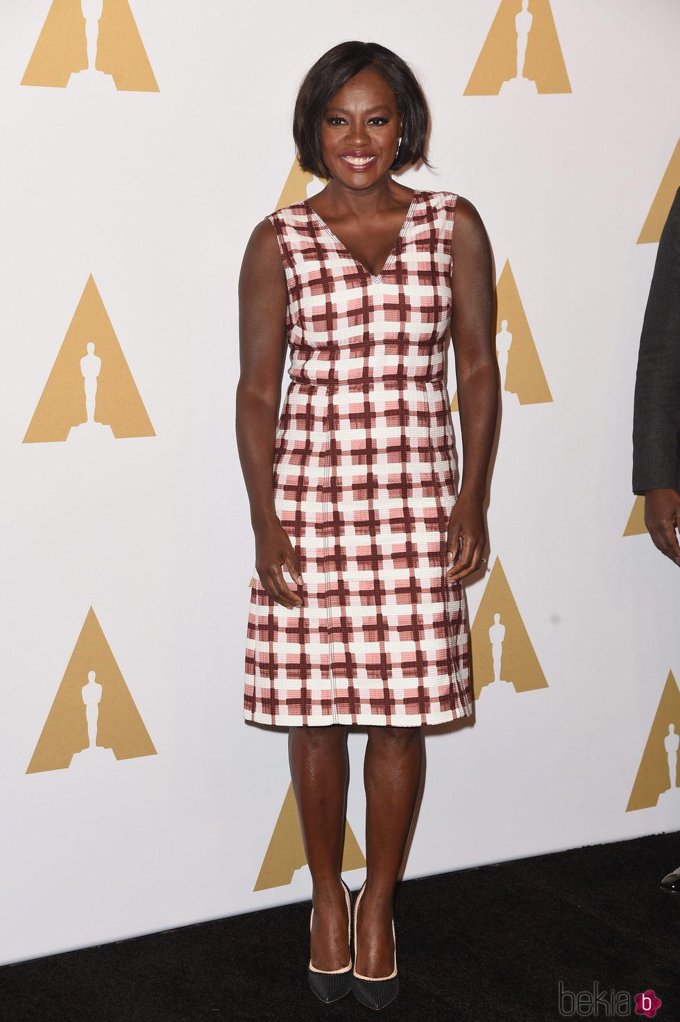 Viola Davis en el almuerzo de los nominados a los Oscar 2017