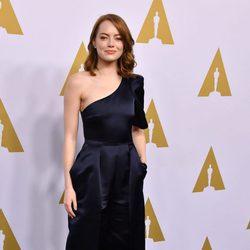 Emma Stone en el almuerzo de los nominados a los Oscar 2017