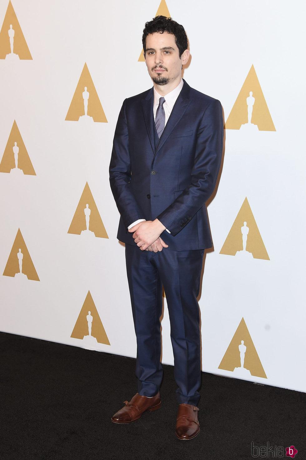 Damien Chazelle en el almuerzo de los nominados a los Oscar 2017