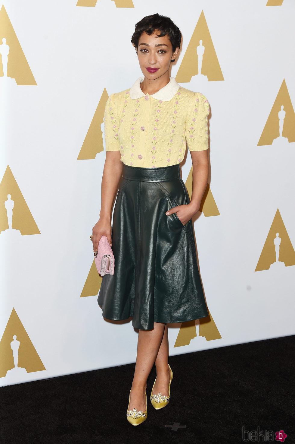 Ruth Negga en el almuerzo de los nominados a los Oscar 2017