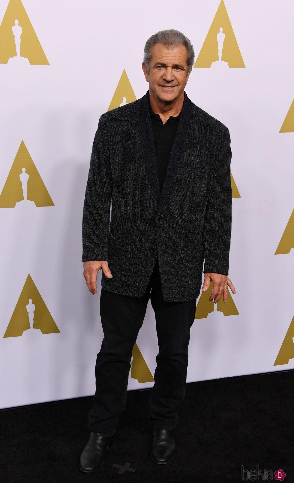 Mel Gibson en el almuerzo de los nominados a los Oscar 2017
