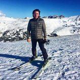 Nicolás Vallejo-Nágera disfrutando de la nieve en Andorra
