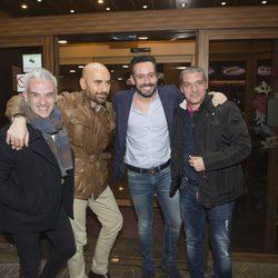 Kike Calleja en su cumpleaños con Diego Arrabal y Gustavo González