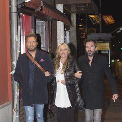 Raúl Prieto, Belén Esteban y David Valldeperas en el cumpleaños de Kike Calleja