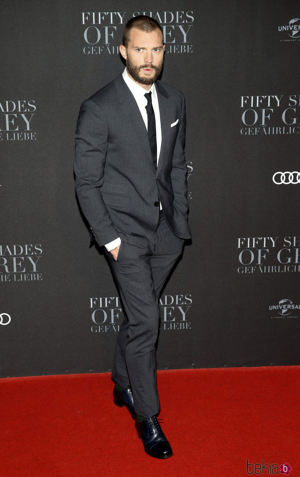 Jamie Dornan en la premiere de 'Cincuenta Sombras Más Oscuras' en Hamburgo