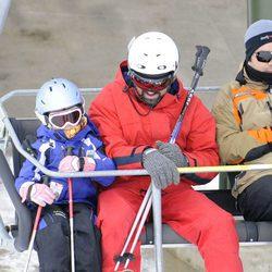 Pau Donés esquiando en Baqueira Beret