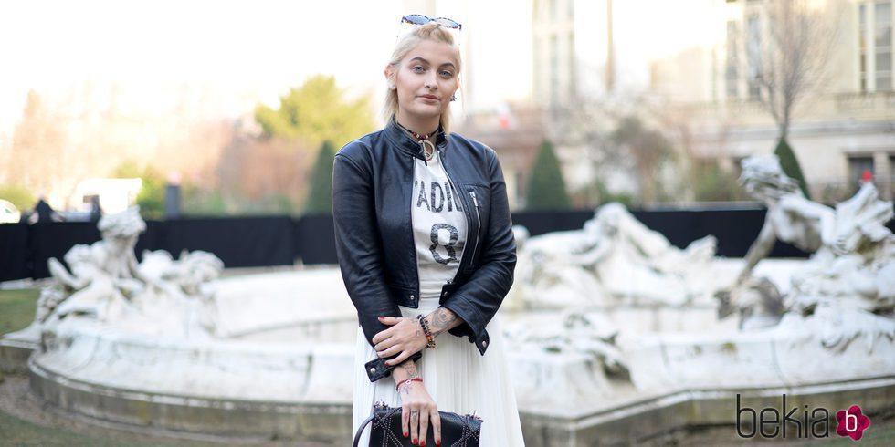 Paris Jackson en la semana de la moda de París de 2017