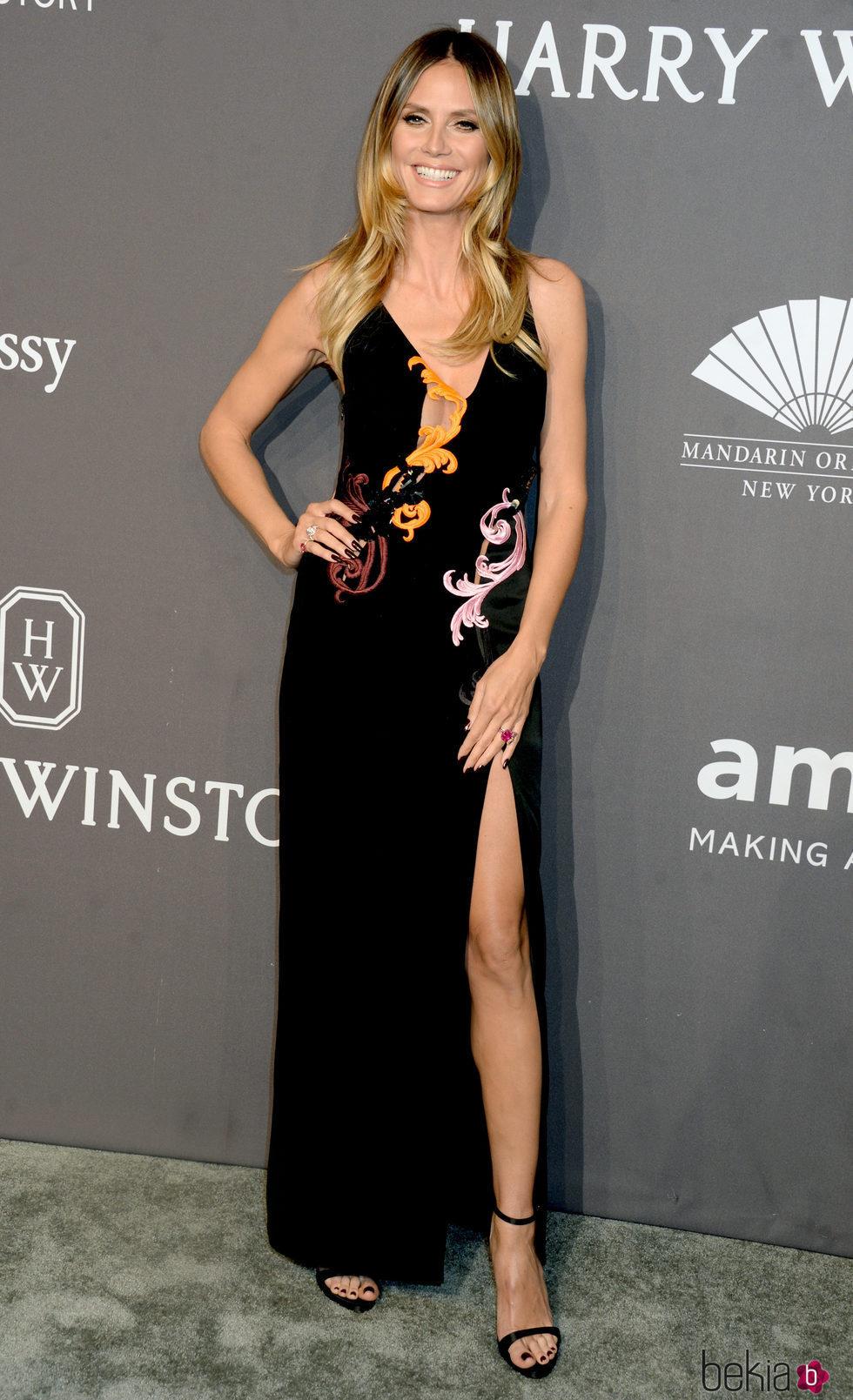 Heidi Klum en la Gala amfAR 2017 en Nueva York