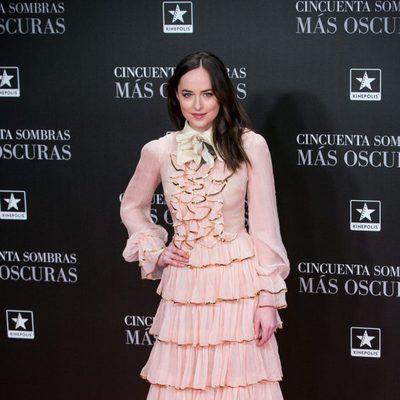 Dakota Johnson en el estreno de 'Cincuenta Sombras Más Oscuras' en Madrid