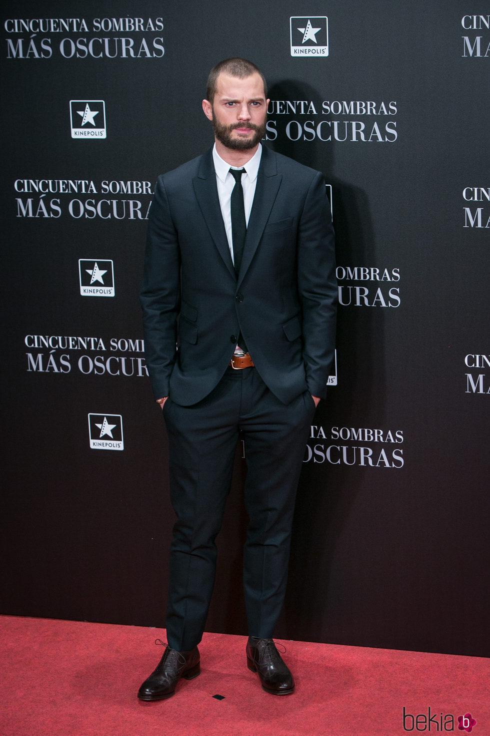 Jamie Dornan en el estreno de 'Cincuenta Sombras Más Oscuras' en Madrid