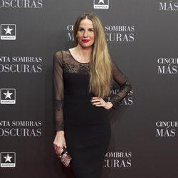 Carola Baleztena en el estreno de 'Cincuenta Sombras Más Oscuras' en Madrid