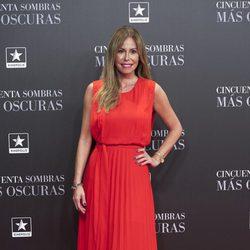 Lara Dibildos en el estreno de 'Cincuenta Sombras Más Oscuras' en Madrid