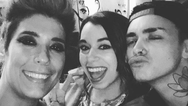 Leklein, Paula Rojo y Mario Jefferson, de fiesta tras 'Objetivo Eurovisión'