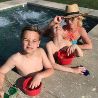 Britney Spears junto a sus hijos Sean y Jayden