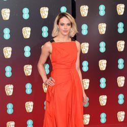 Jessica Brown Findlay en la alfombra roja de los Premios Bafta 2017