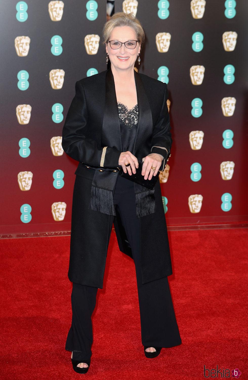 Meryl Streep en la alfombra roja de los Premios Bafta 2017
