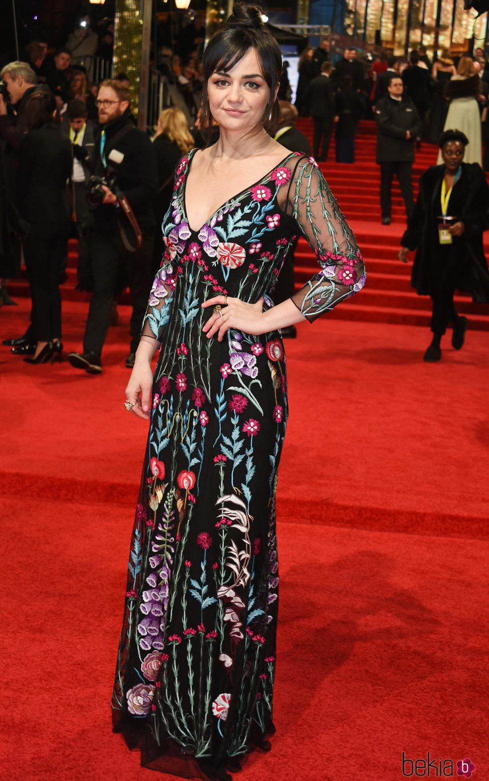 Hayley Squires en la alfombra roja de los Premios Bafta 2017