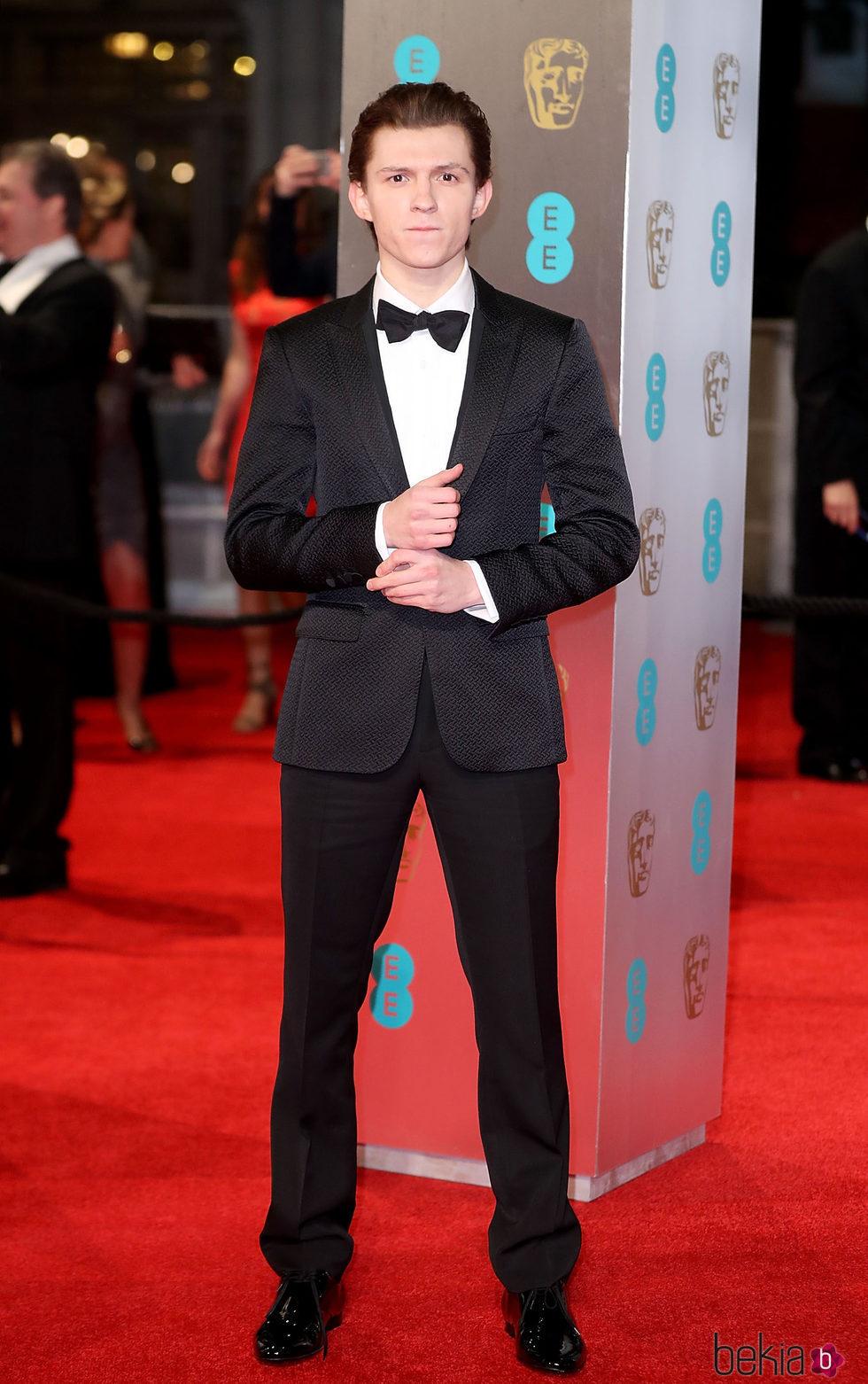 Tom Holland en la alfombra roja de los Premios Bafta 2017