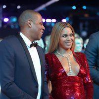 Beyoncé y Jay Z felices en los Premios Grammy 2017