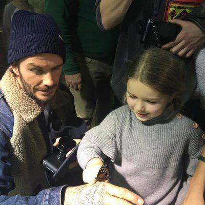 David Beckham y Harper Seven se divierten en el Museo de Historia Natural de Nueva York