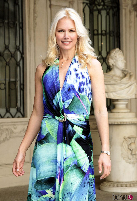 Valeria Mazza en un acto de moda celebrado en Milán