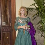Bibiana Fernández llegando a la fiesta de su 63 cumpleaños