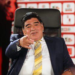 Maradona en el estadio de fútbol de los Soccerex