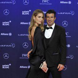 Luis Figo y Helen Svedin en los Premios Laureus 2017