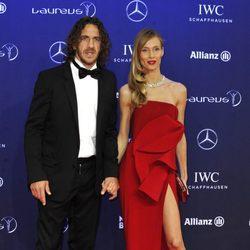 Carles Puyol y Vanesa Lorenzo en los Premios Laureus 2017