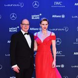 Alberto y Charlene de Mónaco en los Premios Laureus 2017