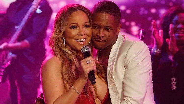 Mariah Carey junto al rapero YG en su reaparición en 'El Show de Jimmy Kimmel'