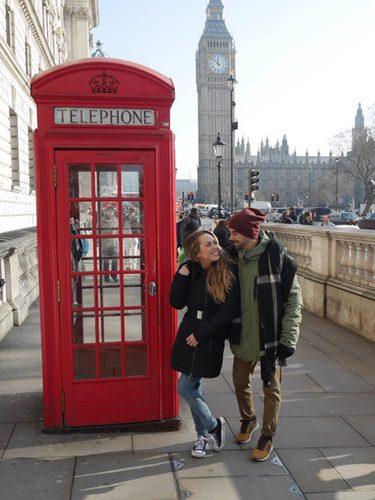 Yoli y Jonathan ('GH 15') disfrutando de Londres