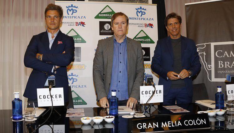 Julio Benítez y Manuel Díaz en la presentación de una feria taurina