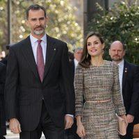 Los Reyes Felipe y Letizia en la inauguración de la nueva exposición del Museo Thyssen