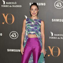 Eva Marciel en la Fiesta Yo Dona de inicio de Madrid Fashion Week otoño/invierno 2017/2018