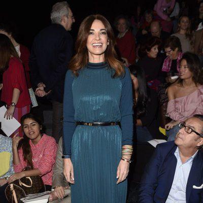 Mariló Montero en el front row del desfile de Ágatha Ruiz de la Prada en Madrid Fashion Week otoño/invierno 2017/2018