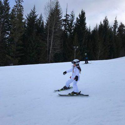 Harper Seven Beckham disfrutando de la nieve en Canadá