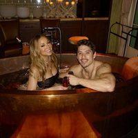 Mariah Carey y su novio Bryan Tanaka celebrando San Valentín