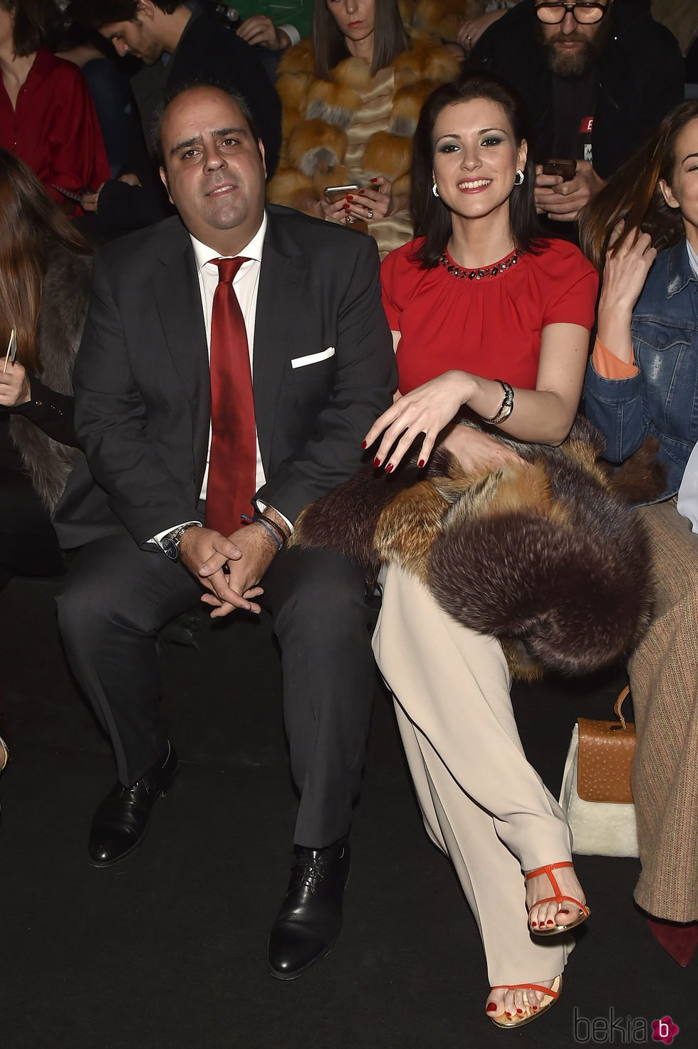 María Jesús Ruiz y Julio Ruz en el front row del desfile de Moisés Nieto y Miguel Marinero en Madrid Fashion Week otoño/invierno 2017/2018
