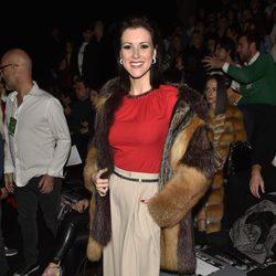 María Jesús Ruiz en el front row del desfile de Moisés Nieto y Miguel Marinero en Madrid Fashion Week otoño/invierno 2017/2018