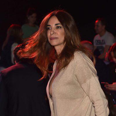Mariló Montero llegando al desfile de Andrés Sardá en Madrid Fashion Week otoño/invierno 2017/2018
