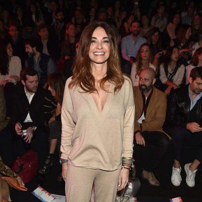 Mariló Montero en el front row del desfile de Andrés Sardá en Madrid Fashion Week otoño/invierno 2017/2018