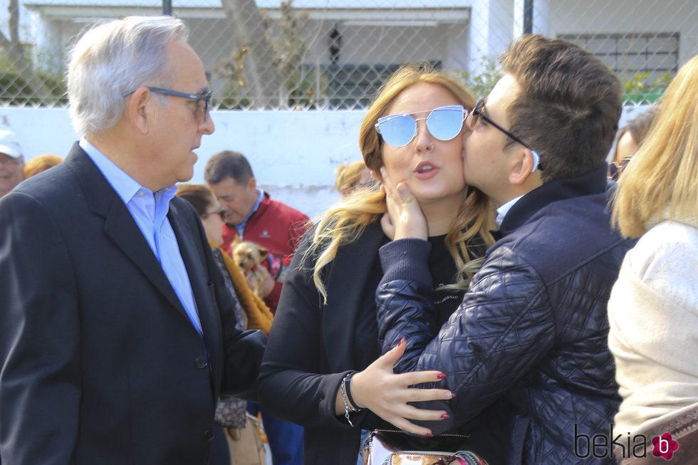 Rocío y David Flores en el homenaje de Rocío Jurado
