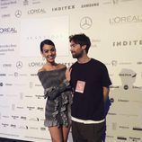 Georgina Rodríguez junto a Juan Vidal tras su desfile en Madrid Fashion Week otoño/invierno 2017/2018